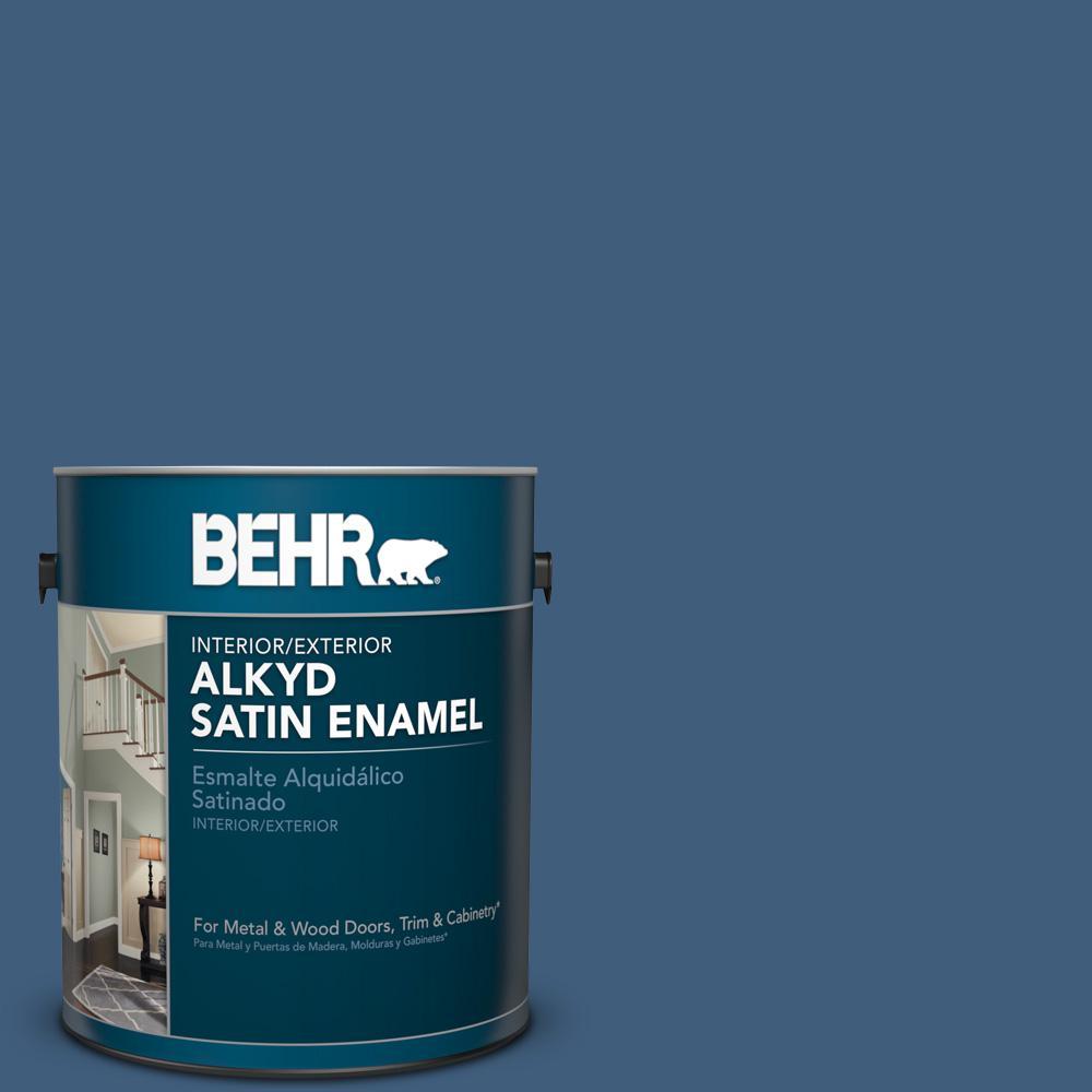 1 gal. #M510-6 Tidal Satin Enamel Alkyd Interior/Exterior Paint