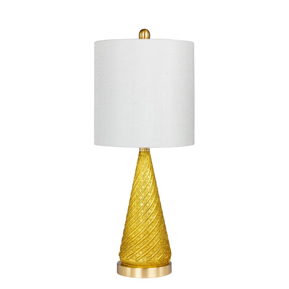 Fangio lighting 245 in glass and metal table lamp in a gold glass and metal table lamp in a gold glitter and satin geotapseo Image collections