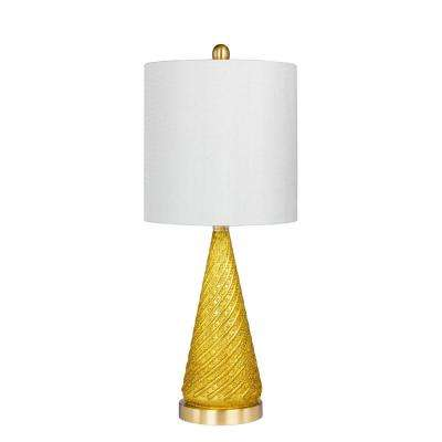 24.5 In. Glass And Metal Table Lamp ...
