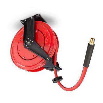 50 ft. x 1/2 in. I.D. Dual Arm Auto Rewind Air Hose Reel