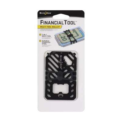 Financial Tool Multi-Tool Wallet in Stainless