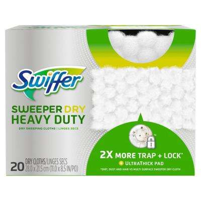 Sweeper Dry Heavy-Duty Dry Sweeping Cloths (20-Count)