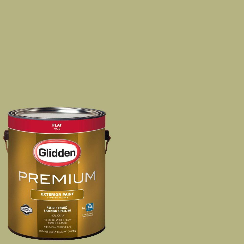 1-gal. #HDGG21U Spring Bud Green Flat Latex Exterior Paint