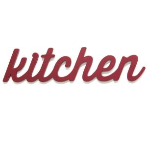 Stratton Home Decor Red Kitchen Wood Word Dcor S11581 The