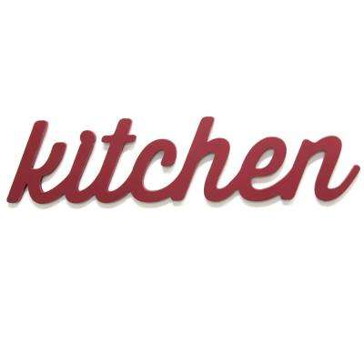Red Kitchen Wood Word Dcor