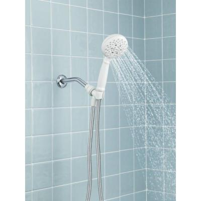 Banbury 5-Spray 4 in. Single Wall Mount Handheld Adjustable Shower Head in White