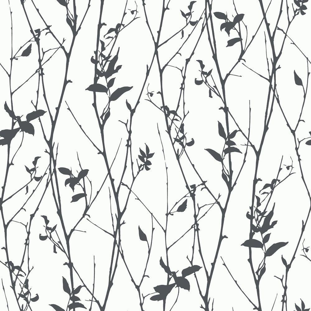 Brewster Paloma Black Spring Tree Wallpaper Sample