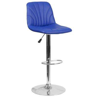 25 in. to 33.25 in. H Blue Bar Stool