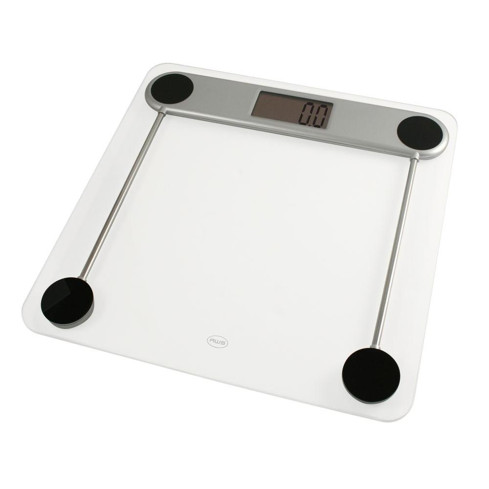 american weigh scales low profile digital glass top bathroom scale - Bathroom Scales