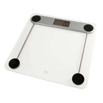 Low Profile Digital Glass Top Bathroom Scale