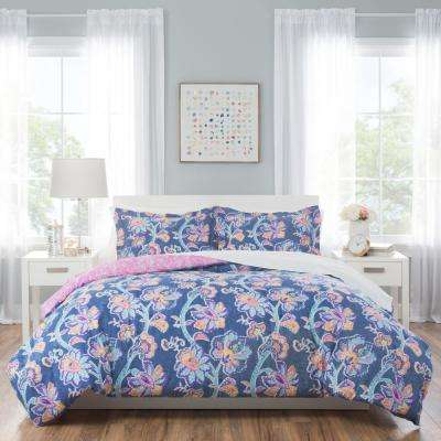 Nicole Miller Kids 7-Piece Queen Floral Comforter Set