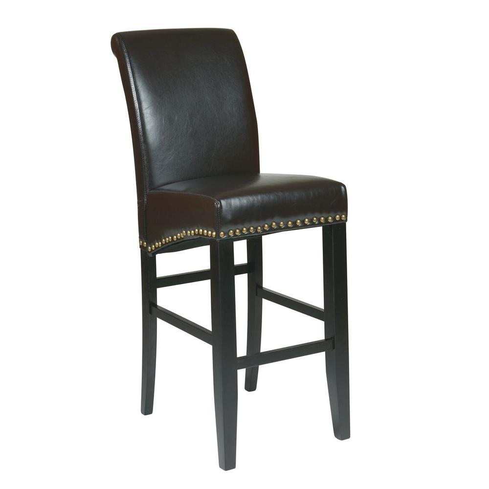 Ospdesigns Parsons 30 In Espresso Cushioned Bar Stool