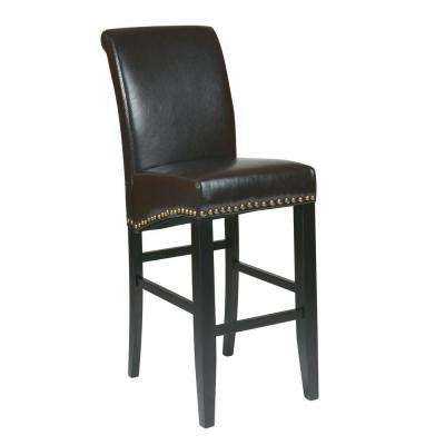 Parsons 30 in. Espresso Cushioned Bar Stool