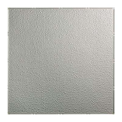 Hammered - 2 ft. x 2 ft. Lay-in Ceiling Tile in Argent Silver