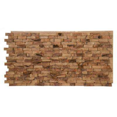 Teak Faux Wood Panel 1-1/4 in. x 48 in. x 24 in. Maple Shadow Polyurethane Interlocking Panel