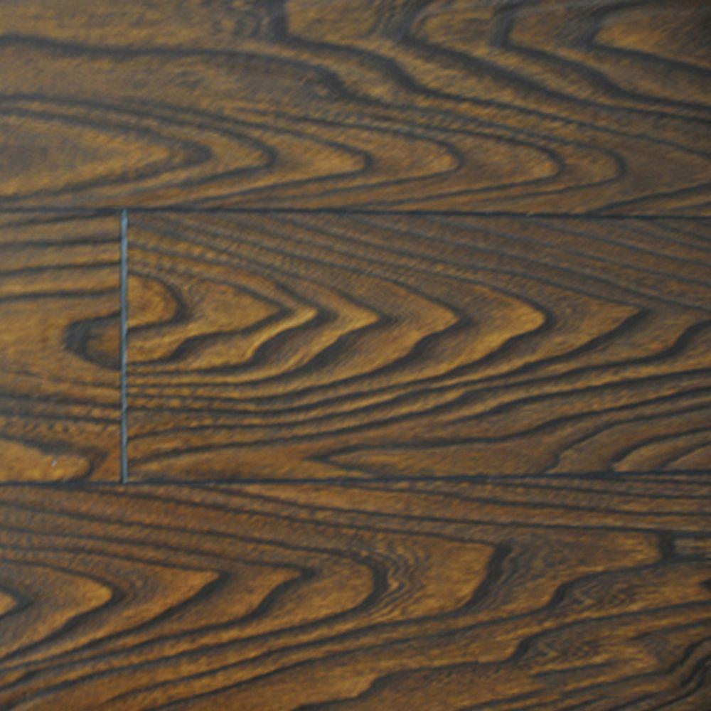 PID Floors Walnut Color Laminate Flooring - 6-1/2 in. Wide x 3 in. Length Take Home Sample