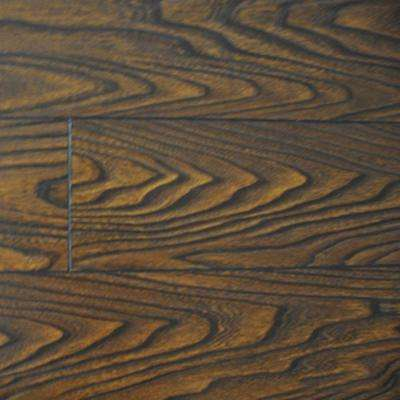Walnut Color Laminate Flooring - 6-1/2 in. Wide x 3 in. Length Take Home Sample