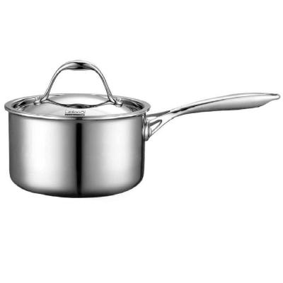 Multi-Ply Clad 1.5 qt. Stainless Steel Sauce Pan with Lid