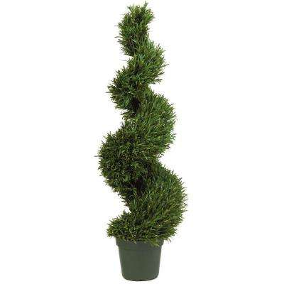 4 ft. Rosemary Spiral Silk Tree