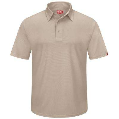 Men's Size L Tan Professional Polo