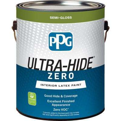 Ultra-Hide Zero 1 gal. Pure White/Base 1 Semi-Gloss Interior Paint