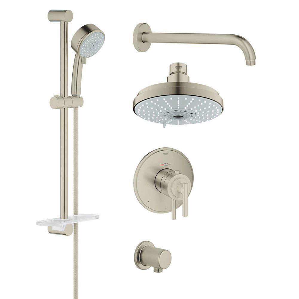 GROHE GrohFlex Timeless 4-Spray Hand Shower and Shower Head Combo ...