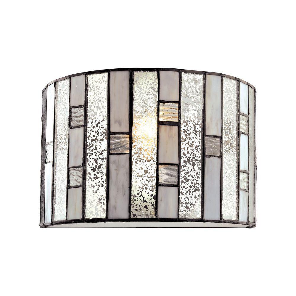 Ethan 1-Light Tiffany Bronze Wall Sconce