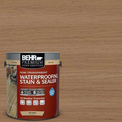 1 gal. #ST-158 Golden Beige Semi-Transparent Waterproofing Exterior Wood Stain and Sealer