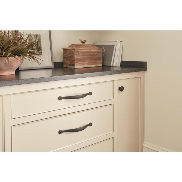 Amerock Inspirations 5 1 16 In 128 Mm Center To Center Flat Black Cabinet Drawer Pull Bp1588fb The Home Depot