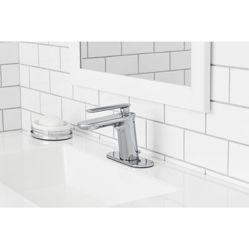 Carmine Single Hole Single-Handle Bathroom Faucet in Chrome