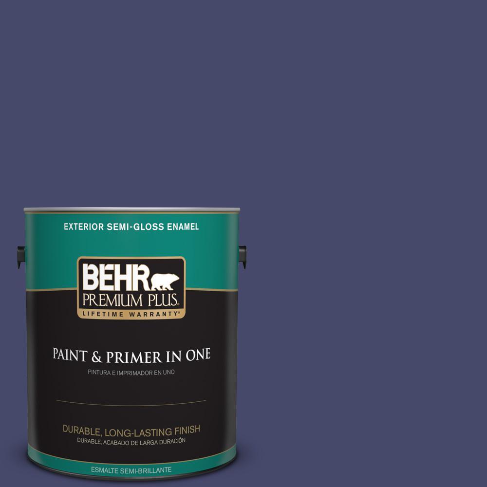 1 gal. #PPU15-01 Nobility Blue Semi-Gloss Enamel Exterior Paint