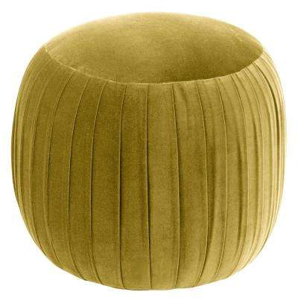 Regal Palm Round Shirred Ottoman
