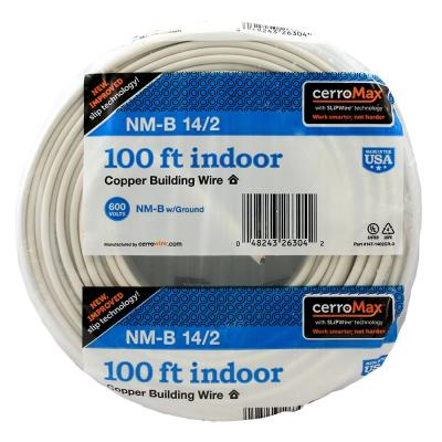 100 ft. 14/2 White NM-B Wire
