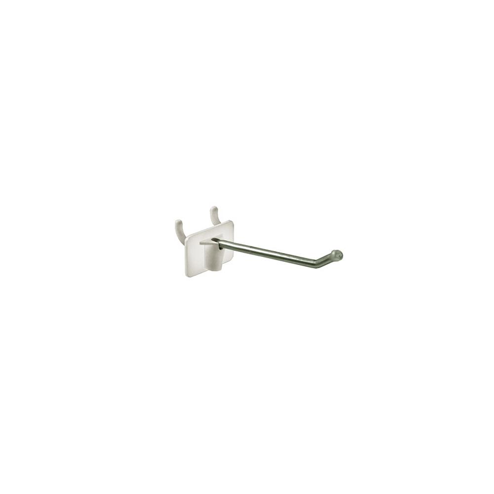 2.5 in. Wire Metal Hook with Attached Plastic Back (50-Pack)