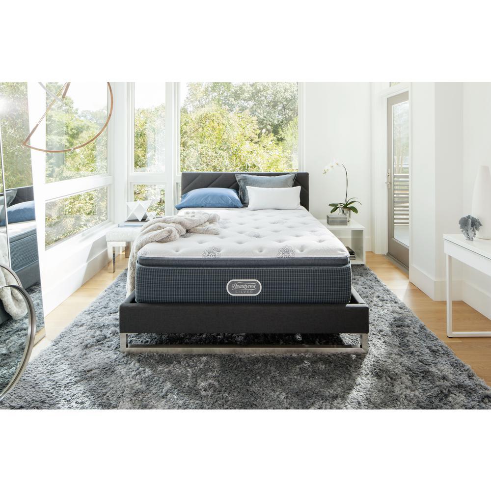 Beautyrest Silver Port Royal Point Twin Xl Plush Low Profile Mattress Set 700753234 9820 The
