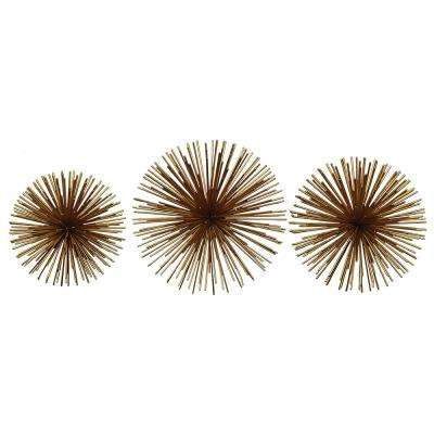 Rocchio Gold Starburst Metal Wall Art