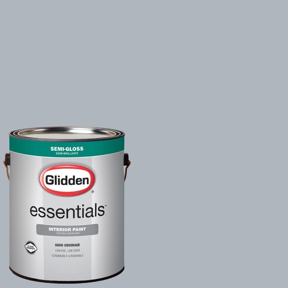 1 gal. #HDGCN45 Silver Swordplay Semi-Gloss Interior Paint