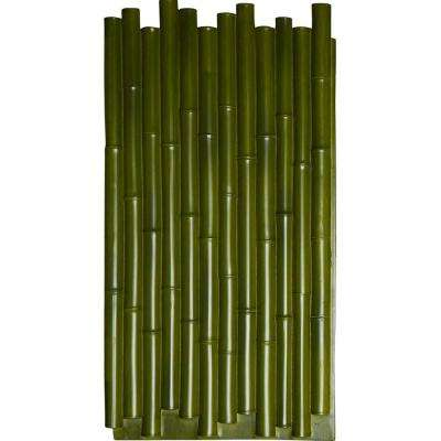 1-3/8 in. x 24-1/2 in. x 49-7/8 in. Green Urethane Bamboo Pole Wall Panel