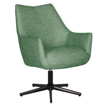Gunnison Swivel Arm Chair in Green Textured Strie
