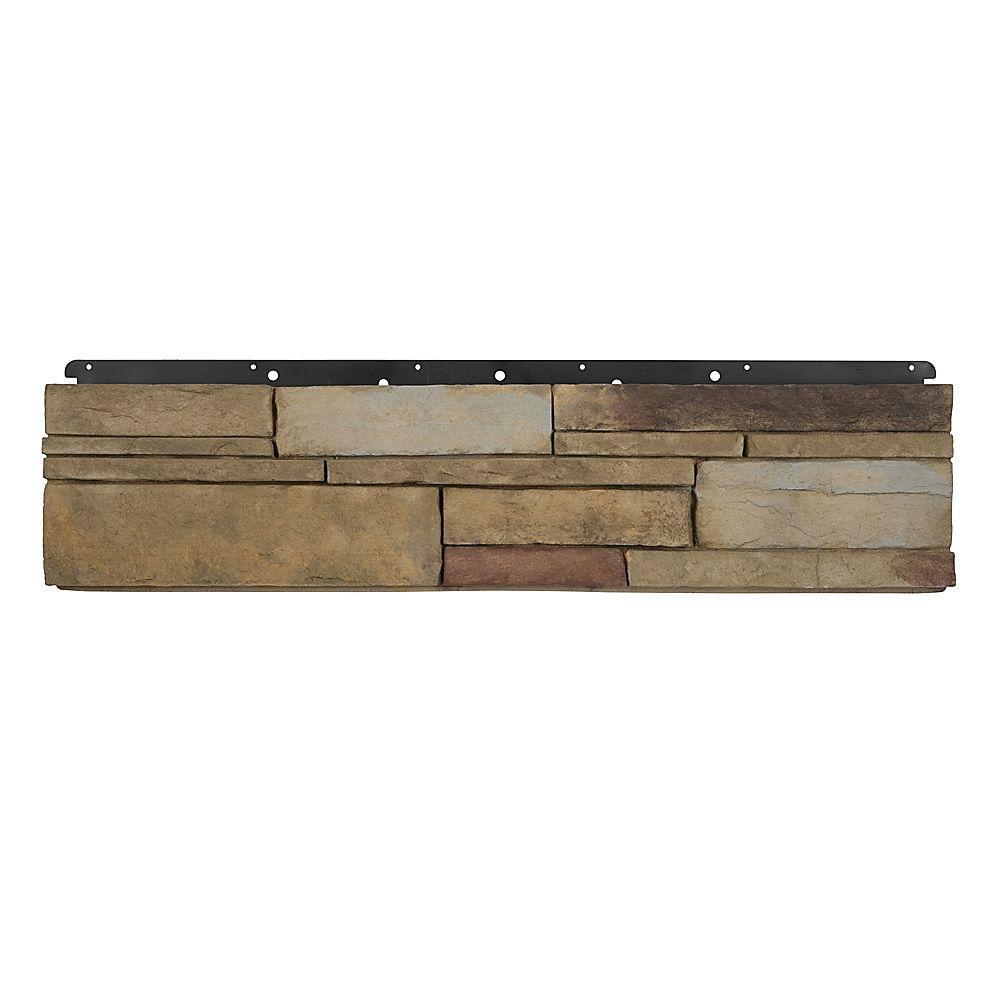 Boral 8 in. x 36 in. Versetta Stone Flat Ledgestone Plum Creek Siding (6-Bundles)