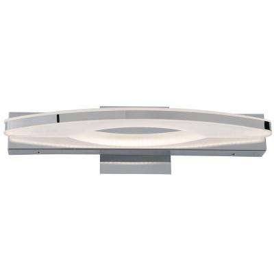 Rogue Decor Sydney 22 in. W Chrome LED Vanity Light