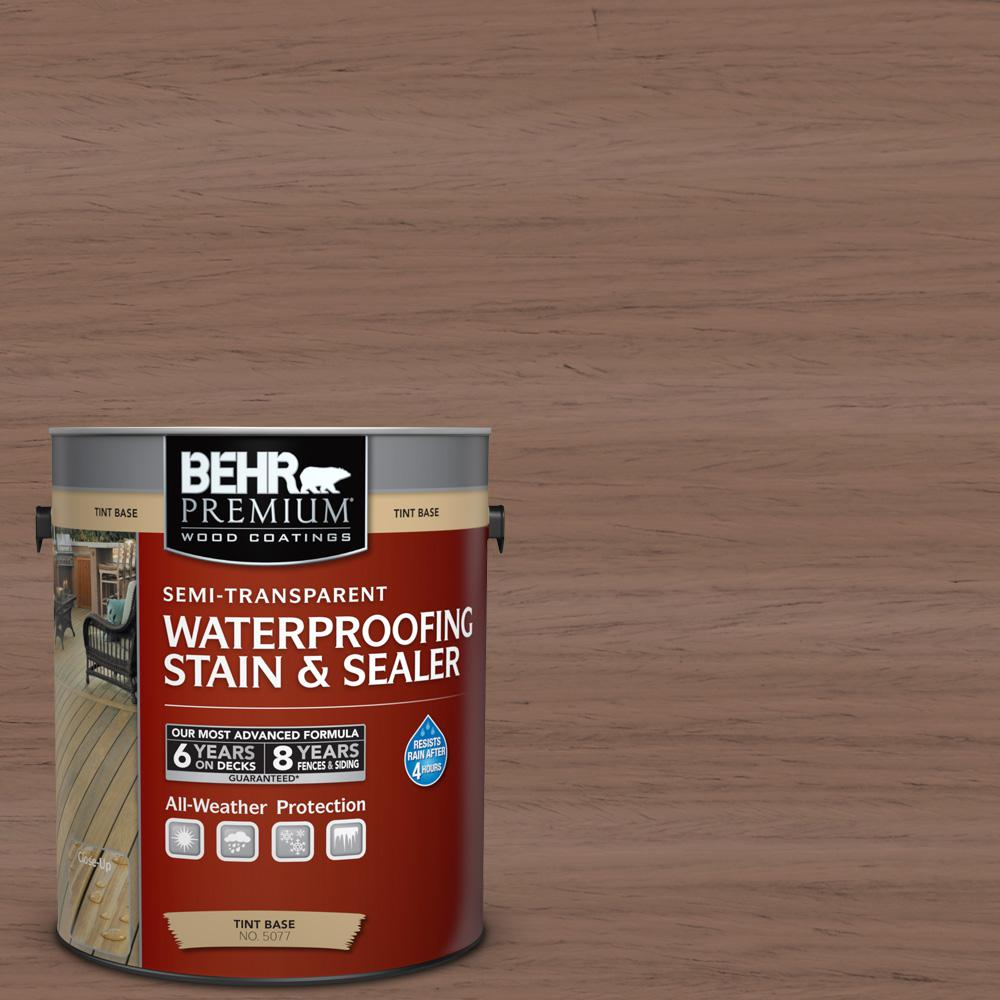 1 gal. #ST-148 Adobe Brown Semi-Transparent Waterproofing Exterior Wood Stain