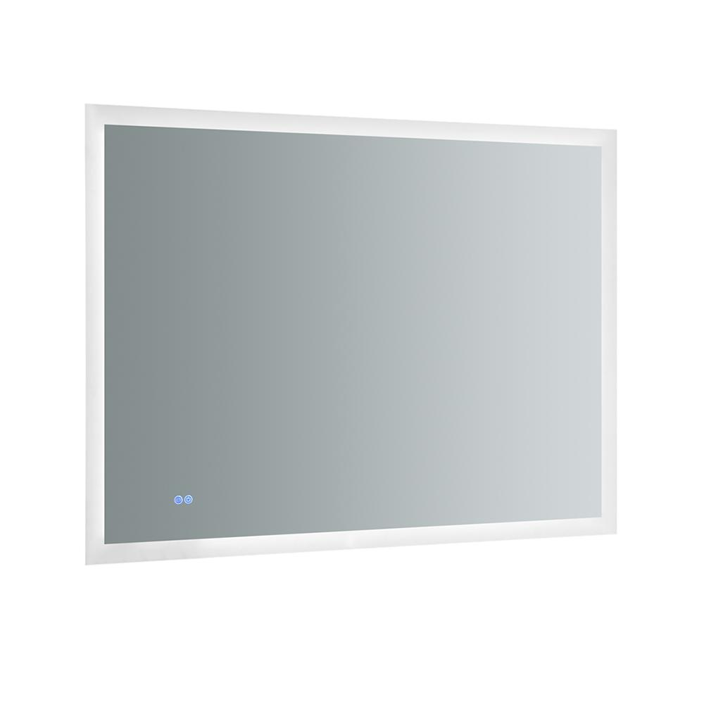 Fresca Angelo 48 in. W x 36 in. H Frameless Single Bathroom Mirror with Halo Style LED Lighting and Mirror Defogger