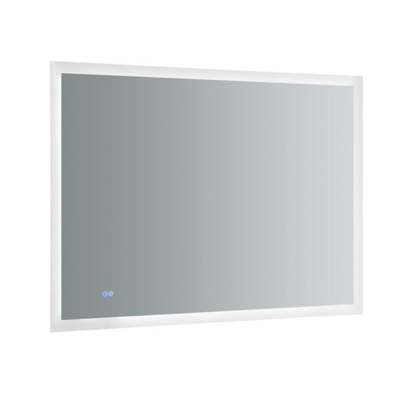 Angelo 48 in. W x 36 in. H Frameless Rectangular LED Light Bathroom Vanity Mirror