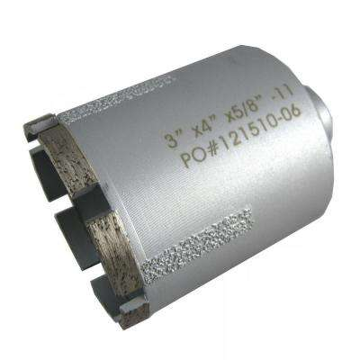 3 in. Wet Diamond Core Bit with Side Strips for Granite Drilling