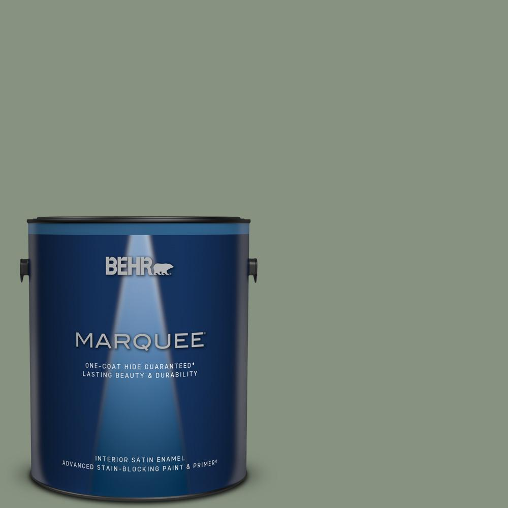 Behr Marquee 1 Gal Qe 45 Thistle Satin Enamel Interior Paint Primer 745401 The Home Depot