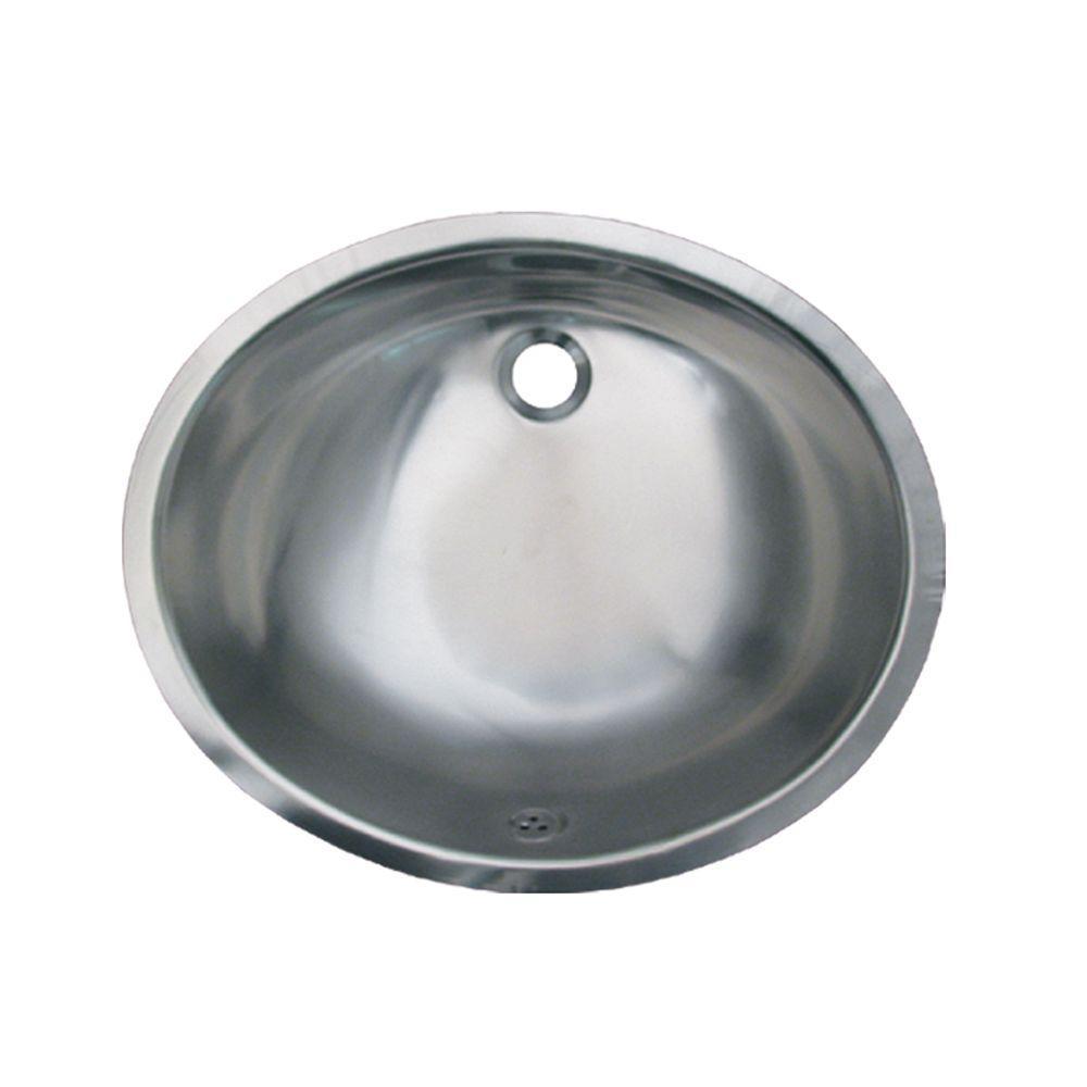 Whitehaus Collection Under-Mounted Bathroom Sink in Satin Stainless Steel