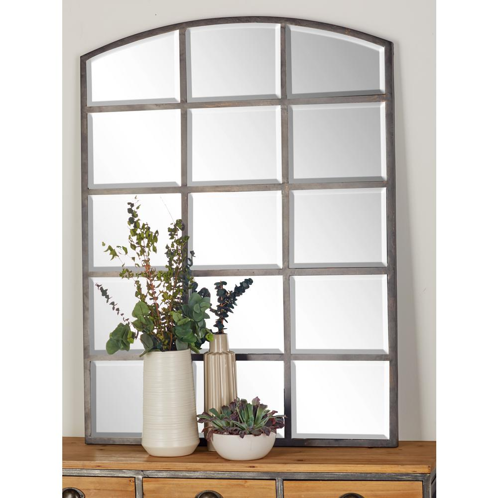 Arched Window Pane Inspired Mettalic Black