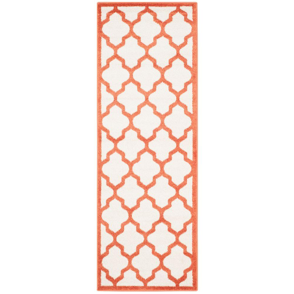 Safavieh Amherst Beige/Orange 2 ft. 3 in. x 9 ft. Indoor/Outdoor Runner