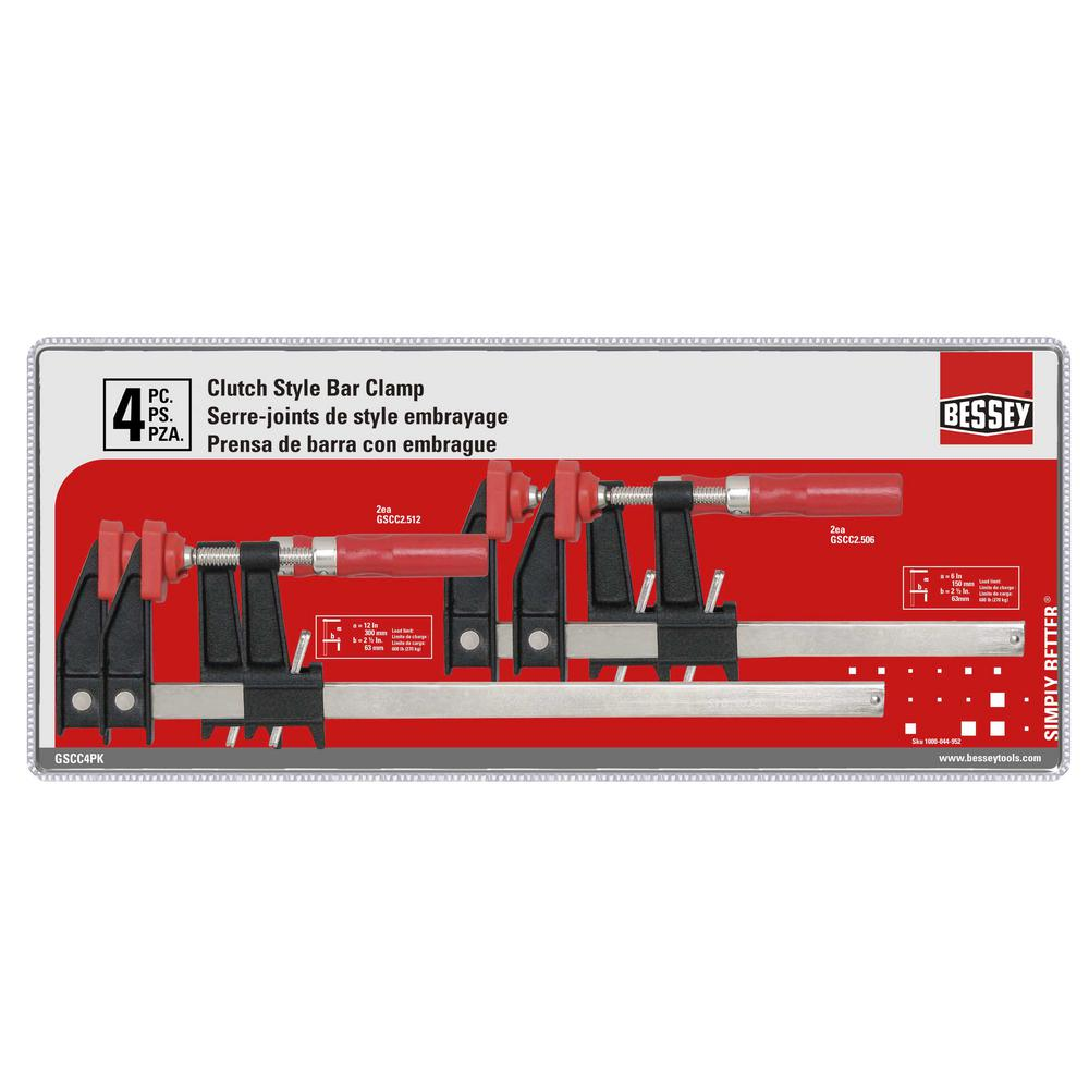BESSEY Clutch Clamp Set (4-Piece)